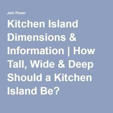best 25 kitchen island dimensions ideas on pinterest kitchen