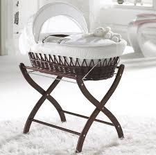 moses basket clair de lune deluxe padded grey wicker baby moses