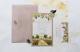 vineyard wedding invitations painted landscape wedding invitations momental designsmomental designs