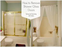 Shower Curtains For Glass Showers Replace Shower Door With Curtain Free Home Decor