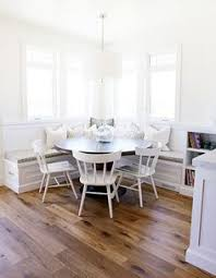 Kitchen Table With Built In Bench Eat In Kitchen Seating With Round Wood Table Lucy Williams