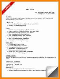 dental assistant resume template senior dentist resume sample