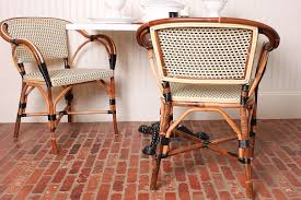 Vintage Bistro Chairs Chair Vintage Bistro Chair Between Rustic Table And