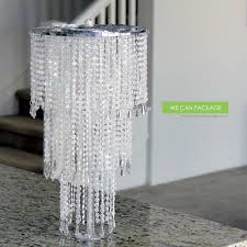 chandelier centerpieces we can package 20 wedding sparkle beaded chandeliers