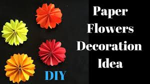 diwali decoration ideas paper flower for diwali decoration