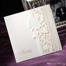 tri fold invitations delicate ivory lace cut out tri fold free personalized