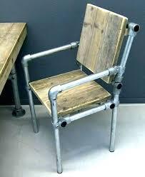 chaise de bureau style industriel chaise style pas bureau industriel en metal et bois le cushions