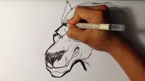 drawing a werewolf halloween drawings youtube
