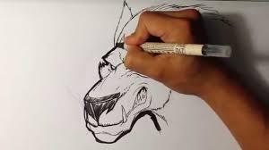 Halloween Drawing Drawing A Werewolf Halloween Drawings Youtube
