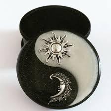 Coffee Grinder Marijuana Sun U0026 Moon Yin Yang Three Part Magnetic Herb Weed Tobacco Grinder