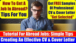 how to create professional cv u0026 cover letter to get job easily in
