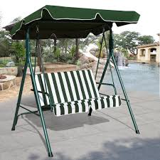 Outdoor Swing With Canopy Love Seat Patio Canopy Swing Porch Swings Outdoor Living