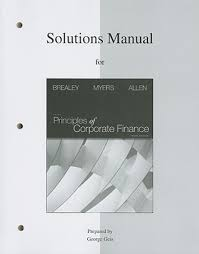 solutions manual for principles of corporate finance buy