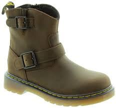 tan biker boots dr martens blip junior biker boots in brown in brown