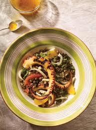 cuisiner un poulpe salade de pieuvre aux lentilles au fenouil et aux agrumes ricardo