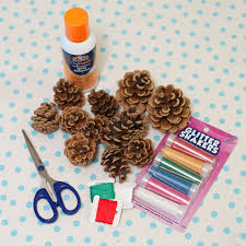 life at the condo holiday crafts pine cone ornaments
