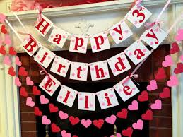 Happy Birthday banner garland set Valentine s Birthday