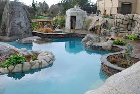 decorating attractive swimming pool for elegant backyard design