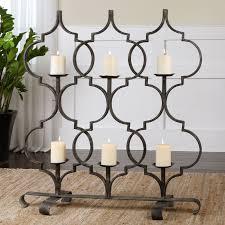 minuteman international 7 candle black fireplace candelabra