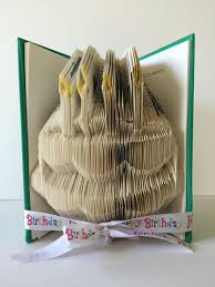 happy birthday book book folding birthday cake blowing candles frosting personalized