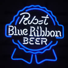 pabst blue ribbon bar handcrafted neon light sign 19x15