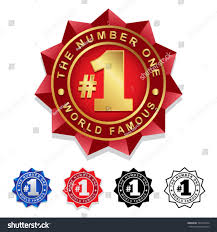 Number One Number One 1 Seal Badge Stock Vector 322273424 Shutterstock