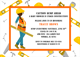 construction baby shower construction to be baby shower invitations