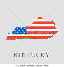 kentucky flag map map state of kentucky in american flag vector vectors
