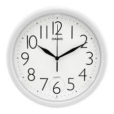 casio white dial wall clock iq 01 7 clock casio watches
