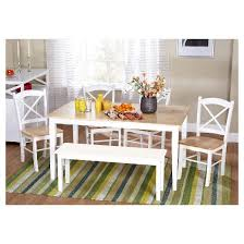 Dining Room Tables Set 6 Piece Tiffany Dining Table Set Wood White Tms Target