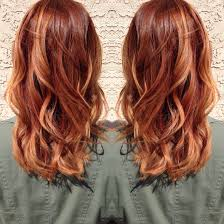 medium length hairstyles with color medium copper blonde hair hair by madison pinterest