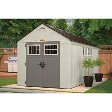 furniture chic suncast storage shed in house design with brown