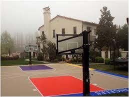 backyards amazing backyard landscaping ideas basketball court