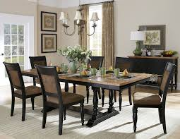homelegance grisoni 8 piece trestle dining room set in two tone