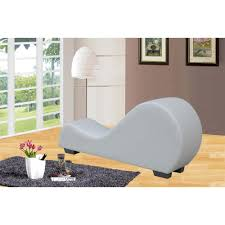 White Chaise Lounge White Faux Leather Chaise Lounge Cl 11 The Home Depot
