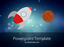 cartoon rocket powerpoint template slidesbase