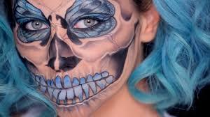 Half Skull Halloween Makeup by Half Skull Halloween Makeup Tutorial Umakeup