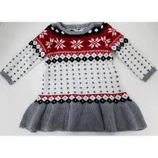 fair isle sweater dress toddler sweater