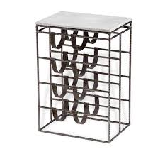 sartre marble leather wine rack table