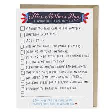 checklist mother u0027s day card emily mcdowell studio
