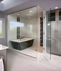 Glass Shower Doors Los Angeles by Bathtub Enclosures Bathroom Transitional With Free Standing Tub