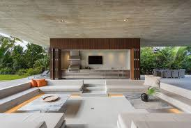 outdoor livingroom a luxury miami beach home with pools natural lagoons and a
