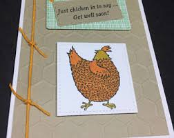chicken card etsy