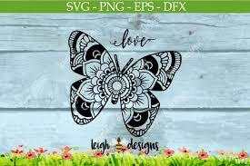 butterfly mandala by leighbee designs design bundles