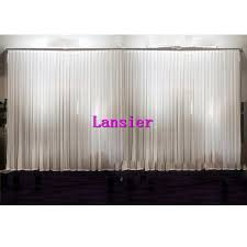 wedding backdrop on a budget new arrival hot 3m 6m plain sheer white wedding drape wedding