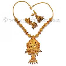 gold necklace earrings set images Gold necklace and earring set 22k temple jewelry gold palace jpg