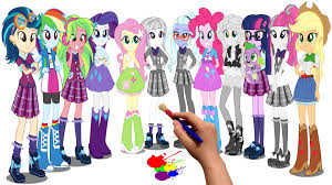 my little pony equestria girls coloring book coloring pages