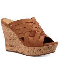 ugg wedge sandals sale ugg marta wedge sandals sandals shoes macy s