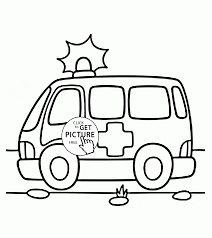 ambulance coloring page for kids transportation coloring pages