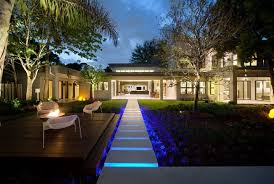 Contemporary Outdoor Lighting A Trail Of Lights To Surround The Home In Brilliance